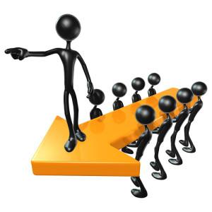 Ledare pekar ut riktningen